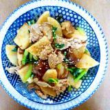 長芋と豚肉と椎茸の炒め物