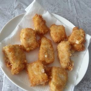 お弁当に☆小麦粉・卵なしの衣でチーズささみカツ