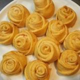 天然酵母で作る手捏ね薔薇パン