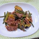味付牛肉とナスの炒め物