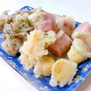 ソーセージとまい茸の磯辺天ぷら