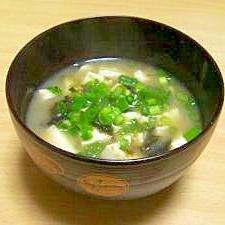 焼き海苔のお味噌汁