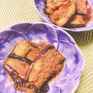 美味♥️なす炒めの生姜ごま和え✧˖°