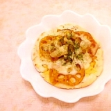 蓮根カレーリメイク♪米粉でサクサク手作りピザ