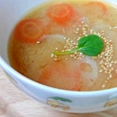 根菜のみそスープ