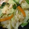 オリーブオイルで野菜炒め