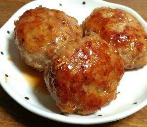 豚ひき肉の 甘辛つくね風ハンバーグ