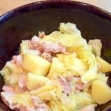 豚バラキャベツとじゃがいものシンプル塩煮