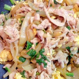♡豚肉・小松菜・卵・たまねぎの塩中華炒め♡