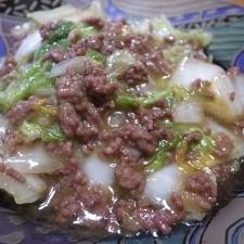 白菜とひき肉☆甘辛炒め