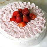 しっとりふわふわシフォン風スポンジケーキで苺デコ!