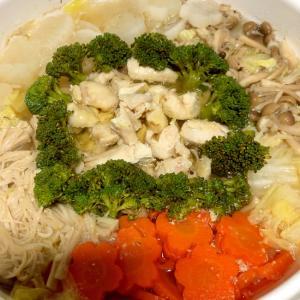 野菜たっぷり!鶏肉のちゃんこ鍋☆