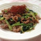 小松菜と豚肉のオイスター炒め♪