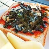 忙しい朝に!栄養満点★海苔チーズトースト