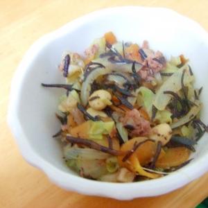 大豆を使った野菜炒め