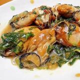 牡蠣と大根菜のオイスター炒め