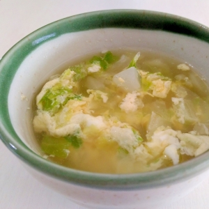 やさしい味わい☆白菜と卵のコンソメスープ