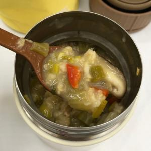 中華風チンゲン菜と椎茸オートミール 155kcal