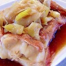 簡単!冷凍赤魚の煮付け