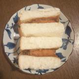 カレー風味の白身魚フライサンド