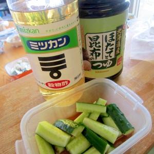 麺つゆと酢漬け胡瓜