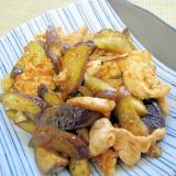 しっとり柔らか✨鶏胸肉と茄子の味噌炒め✨