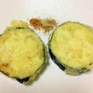 なす天ぷらを塩一味山椒で