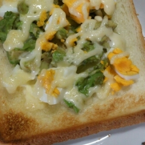 アボカドと卵のマヨトースト