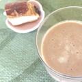 腸活に★簡単ココアとバナナのホットスムージー