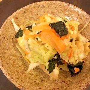 カンタン鉄分♡海苔とやさいの和風サラダ