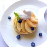 グルテンフリー♪桃のパンケーキ