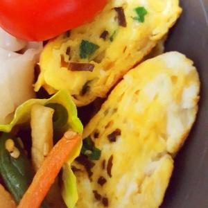 ★お弁当に♪塩昆布と小ネギの卵焼き★