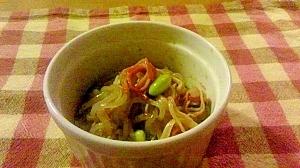 【簡単】糸こんにゃくと青大豆の和風マリネ