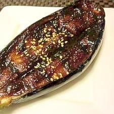 米茄子の味噌田楽風焼き