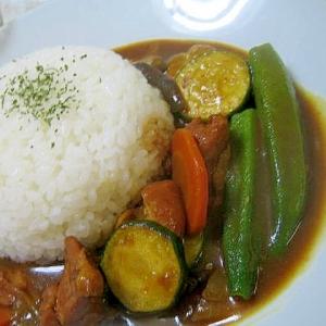 鶏肉と夏野菜たっぷりカレー☆