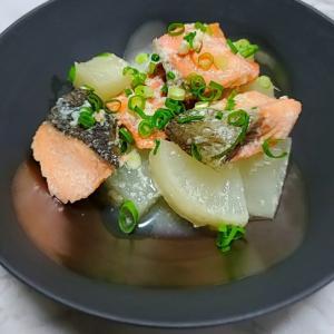 秋鮭と大根の塩麹煮
