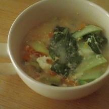 小松菜と人参のスープ