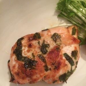 魚焼きグリルで!鶏むね肉のバジルソテー