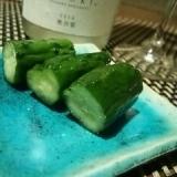 さっぱり美味しい、キュウリの日本酒漬け