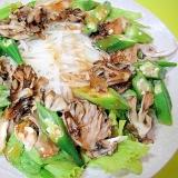 舞茸とオクラ大根の和風サラダ