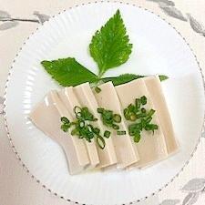 ゴマ豆腐に、ゴマ油
