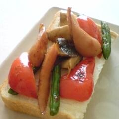 焼き野菜のトースト
