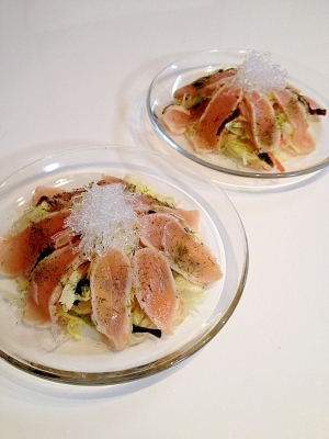 淡路鶏のたたきで作るおもてなしサラダ