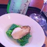 おうち居酒屋、牡蠣と菜の花の潮汁