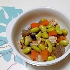 具だくさん!青大豆の煮物++
