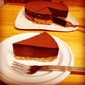 生チョコみたいな簡単チョコタルト