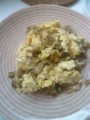 お弁当にも!ザーサイと卵の炒め