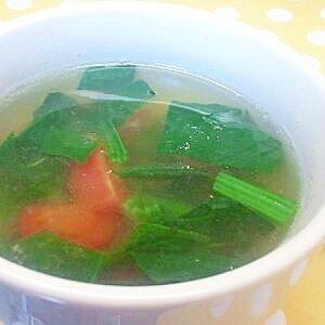 ほうれん草とトマトのスープ