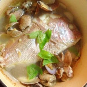 スープ美味!☆鯛とあさりだけアクアッパッツア