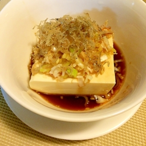 簡単☆じゃこ豆腐